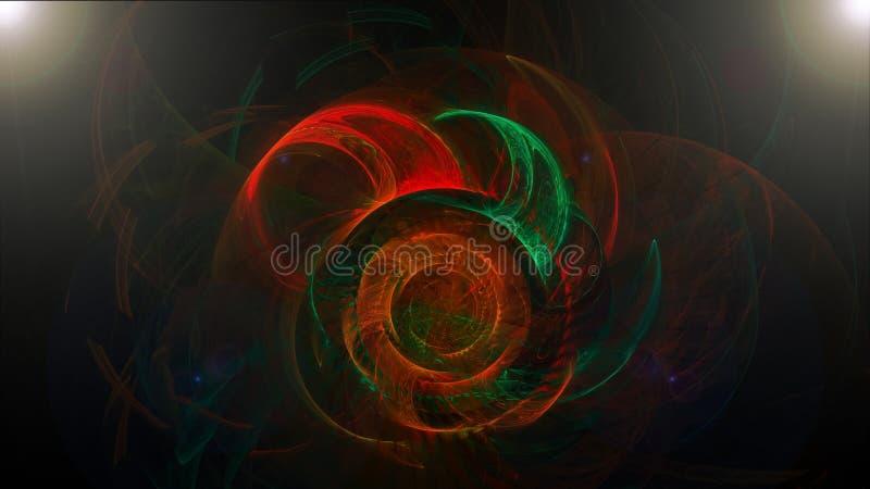 Fundo abstrato escuro com cores espirais ilustração stock