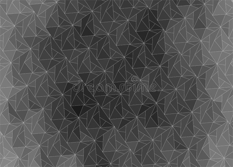 Fundo abstrato escuro do inclinação dos triângulos ilustração do vetor