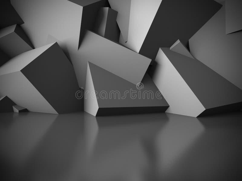 Fundo abstrato escuro vazio do interior da sala imagens de stock