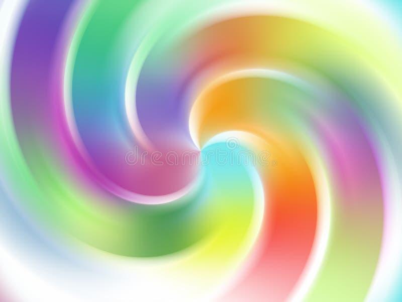 Fundo abstrato espiral ilustração royalty free