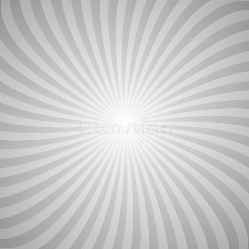 Fundo abstrato espiral dos raios de giro ilustração stock
