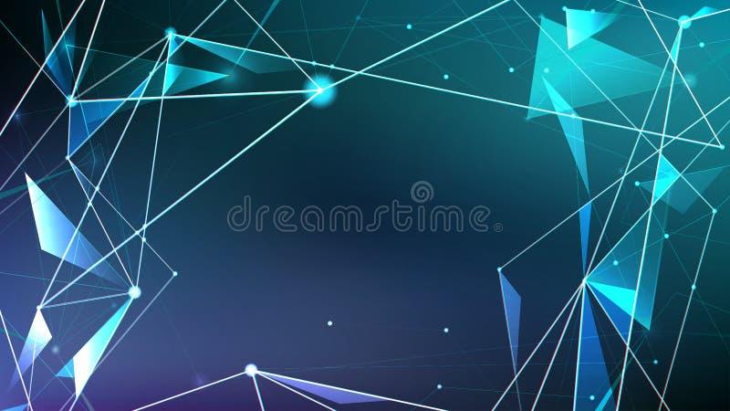 Fundo abstrato, estilo futurista da tecnologia futura ilustração royalty free