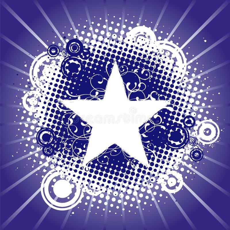 Fundo abstrato, estrela ilustração royalty free