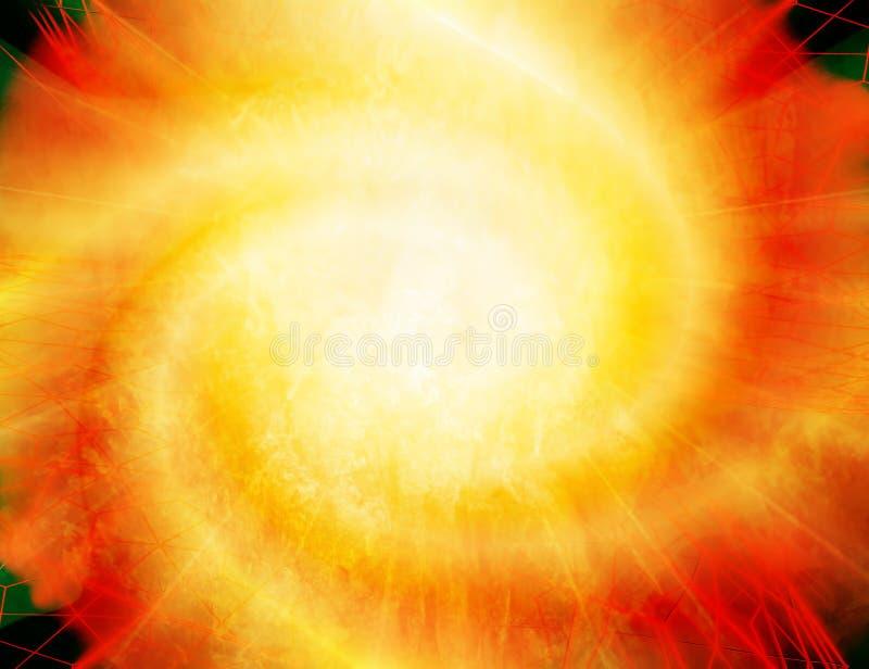 Fundo abstrato - explosão impetuosa brilhante Imagem do golpe impetuoso grande ilustração stock