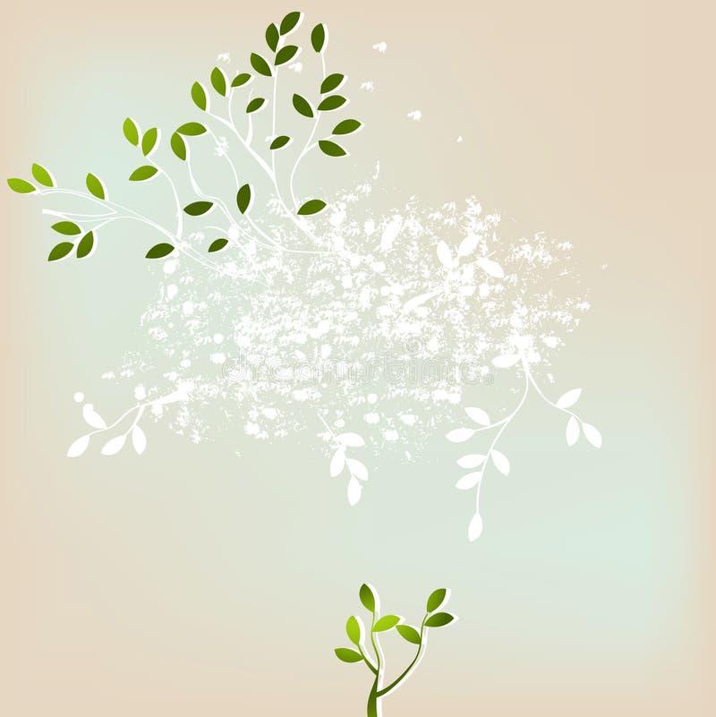 Fundo abstrato floral ilustração do vetor