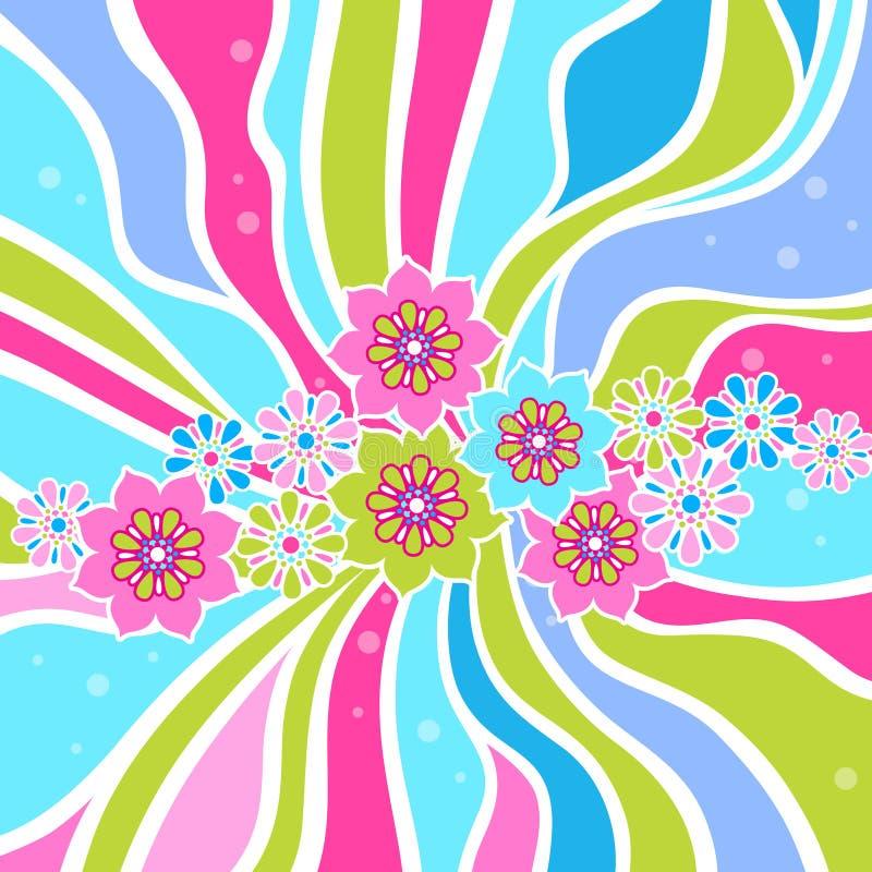 Fundo abstrato floral ilustração stock