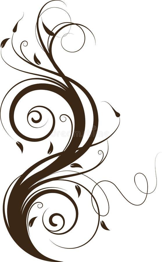 Fundo abstrato floral. ilustração royalty free