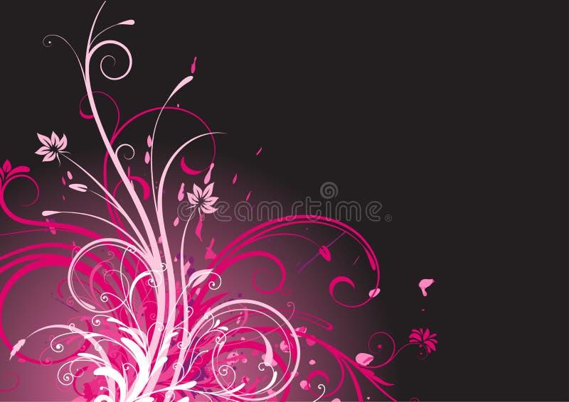 Fundo abstrato floral ilustração royalty free