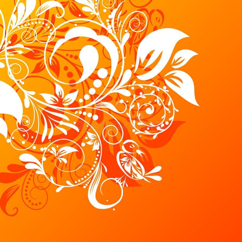 Fundo abstrato floral, vetor ilustração royalty free