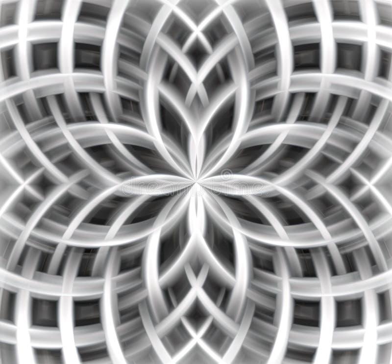 Fundo abstrato florido nas matiz de prata ilustração royalty free