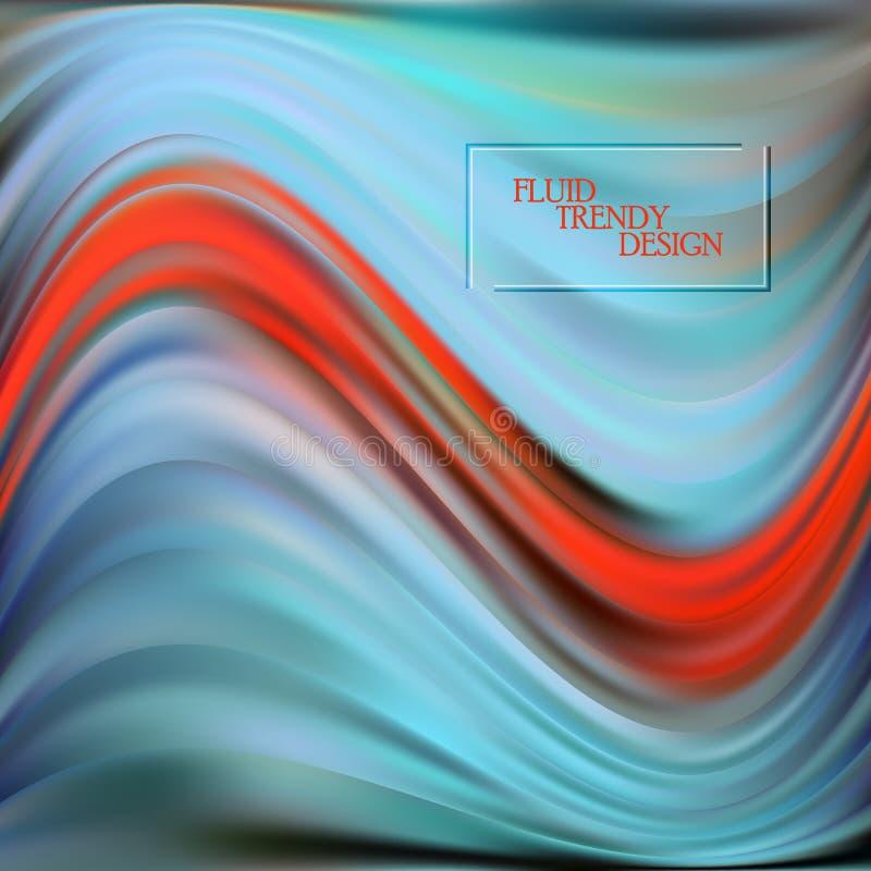 Fundo abstrato fluido da onda com formas líquidas Formulários líquidos coloridos com efeito do fluxo para o cartão, bandeira ilustração stock