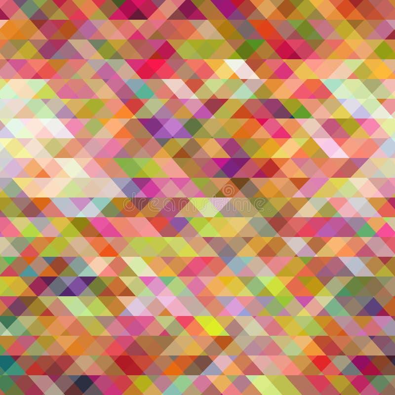Fundo abstrato formado por triângulos ilustração stock