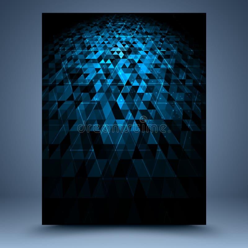 Fundo abstrato geométrico azul e preto ilustração do vetor