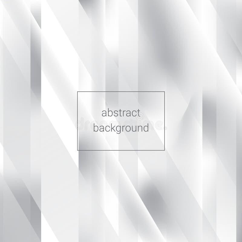 Fundo abstrato geométrico branco ilustração do vetor