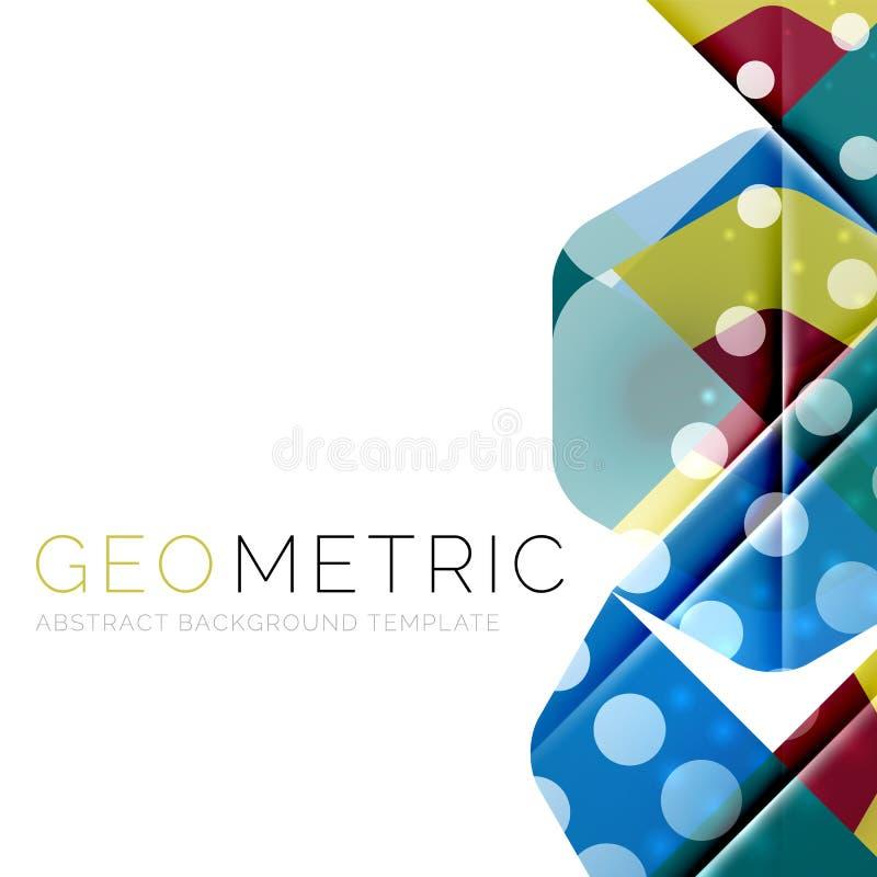 Fundo abstrato geométrico brilhante ilustração do vetor