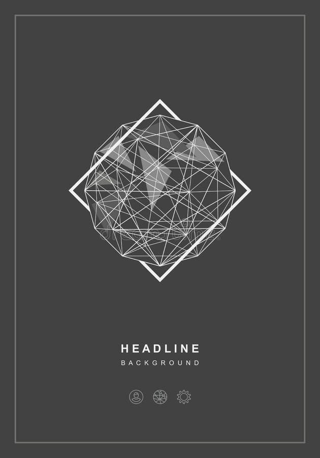 Fundo abstrato geométrico da esfera ilustração do vetor