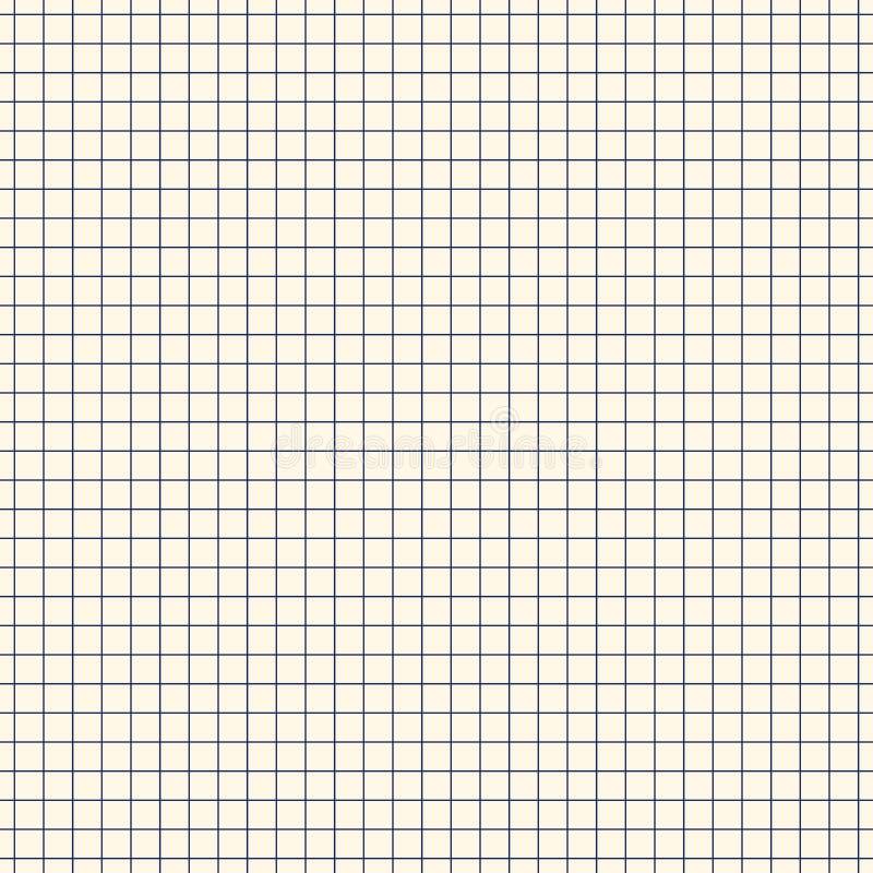 Fundo abstrato geométrico da grade do esboço Teste padrão sem emenda com ornamento da verificação Motivo alinhado quadrado Superf ilustração royalty free