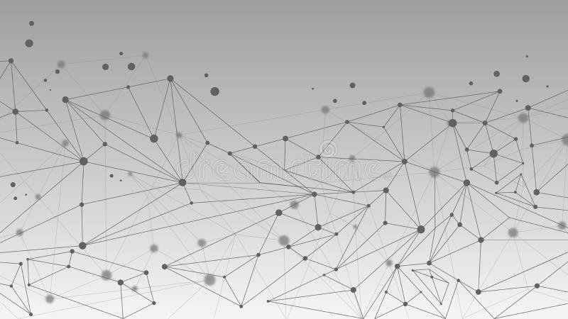 Fundo abstrato geométrico da molécula e da comunicação ilustração royalty free