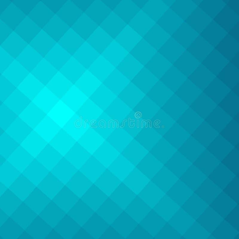 Fundo abstrato geométrico de Turqoise ilustração stock