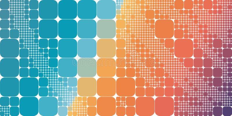 Fundo abstrato geométrico do inclinação violeta alaranjado azul quadrado ilustração do vetor