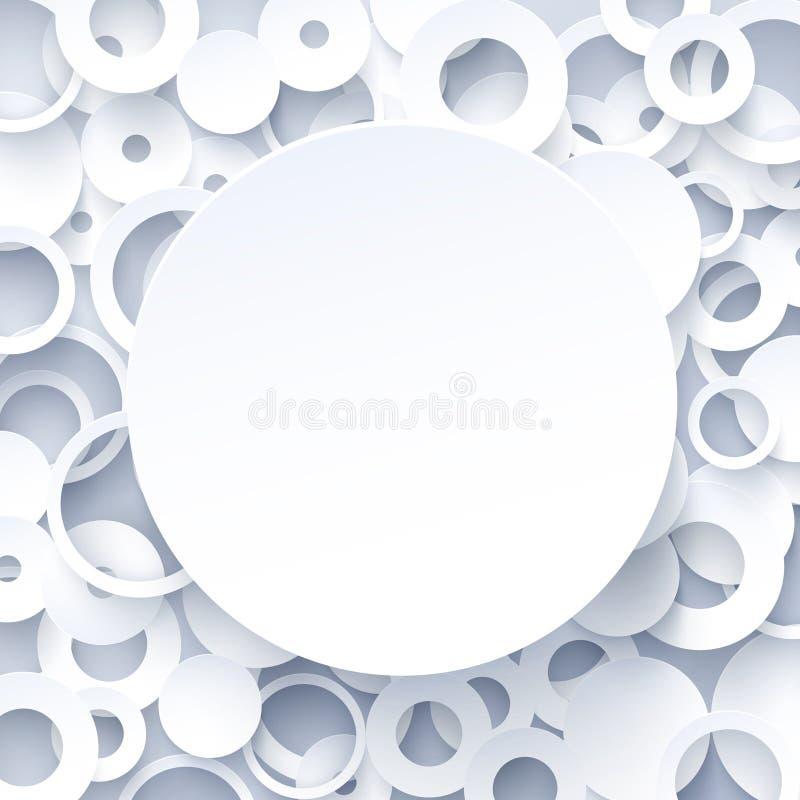 fundo abstrato geométrico do Livro 3d Branco  ilustração royalty free