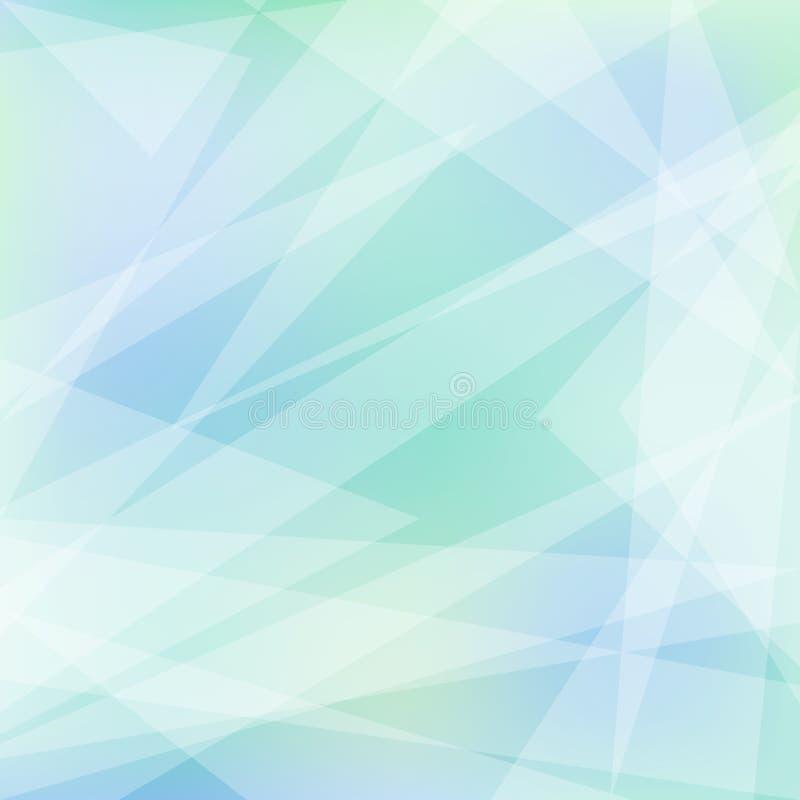 Fundo abstrato geométrico macio em cores claras ilustração do vetor