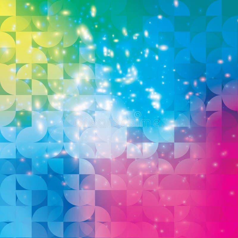Fundo abstrato geométrico moderno do círculo colorido ilustração stock