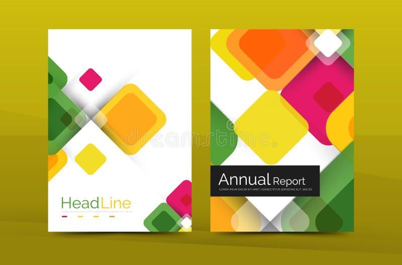 Fundo abstrato geométrico, molde do informe anual da empresa de negócio ilustração royalty free