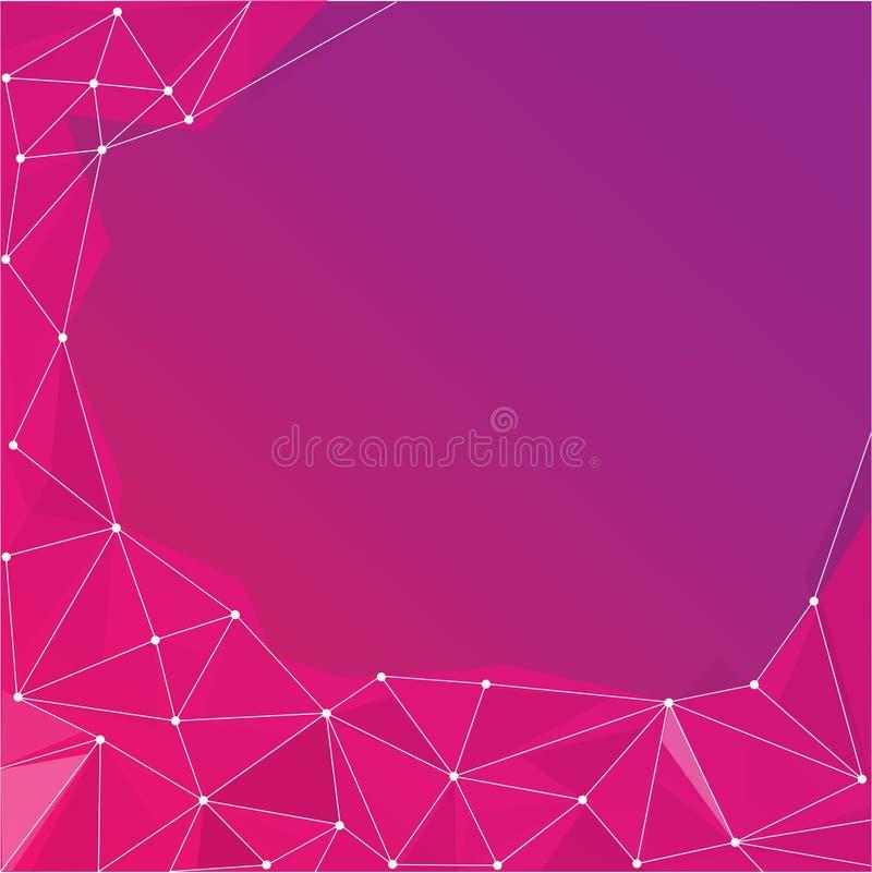 Fundo abstrato geométrico roxo ilustração stock