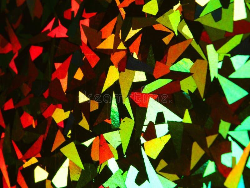 Fundo abstrato holográfico, brilhante e colorido foto de stock