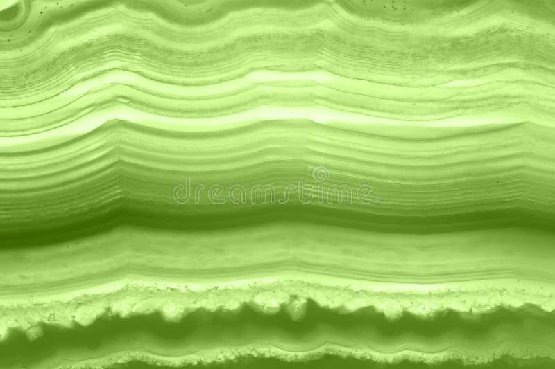 Fundo abstrato - hortaliças minerais do macro PANTONE da fatia verde da ágata imagem de stock royalty free