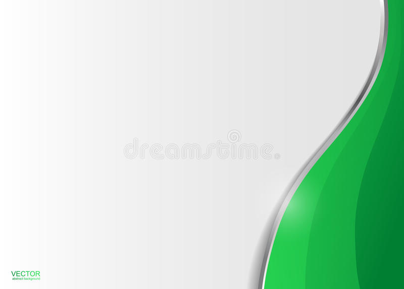 Fundo abstrato incorporado ondulado verde ilustração stock