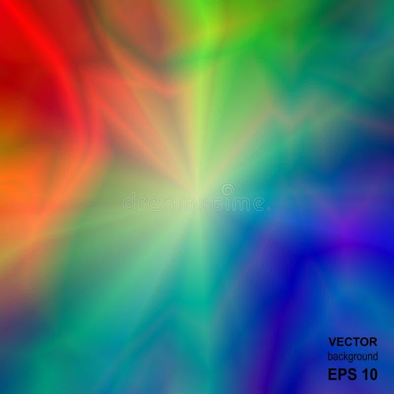 Fundo abstrato iridescente brilhante colorido ilustração royalty free