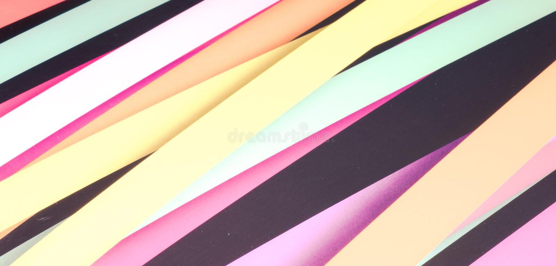 Fundo abstrato listrado colorido, listras vari?veis da largura foto de stock