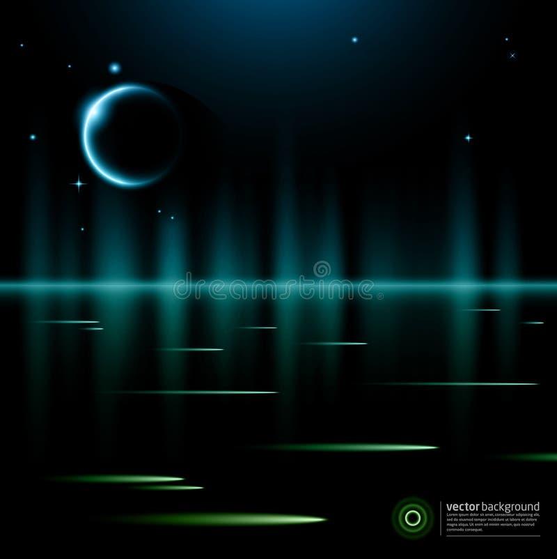 Fundo abstrato - lua ilustração stock
