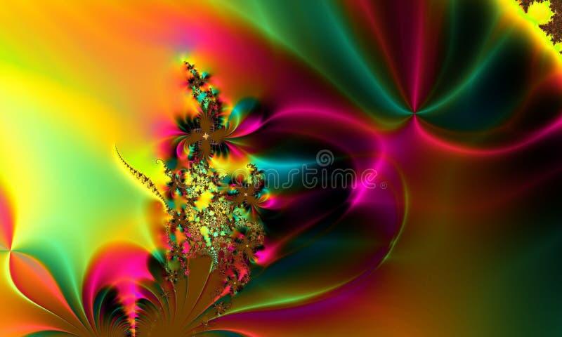 Fundo abstrato lunático colorido do arco-íris ilustração royalty free