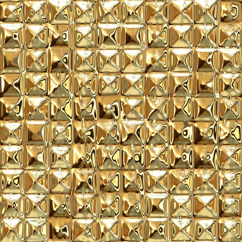 Fundo abstrato luxuoso sem emenda do ouro ilustração stock