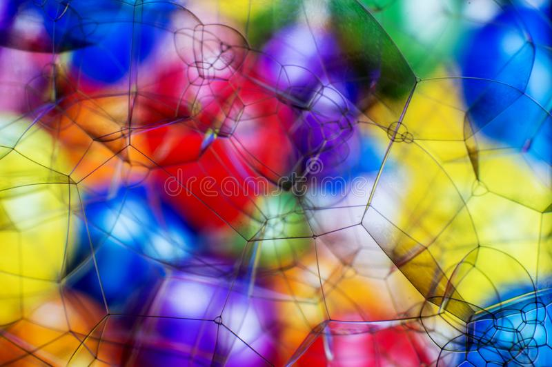 Fundo abstrato macio bonito de bolhas de sabão foto de stock