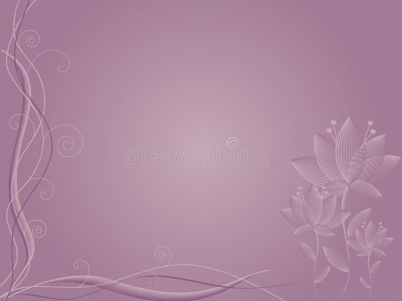 Fundo abstrato malva da flor ilustração royalty free