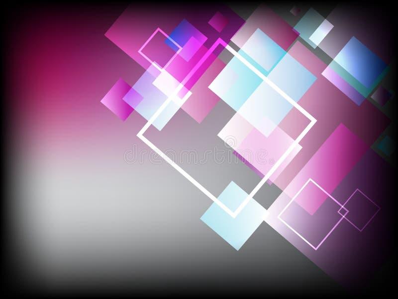 Fundo abstrato moderno com cores e quadrados surpreendentes bonitos ilustração stock