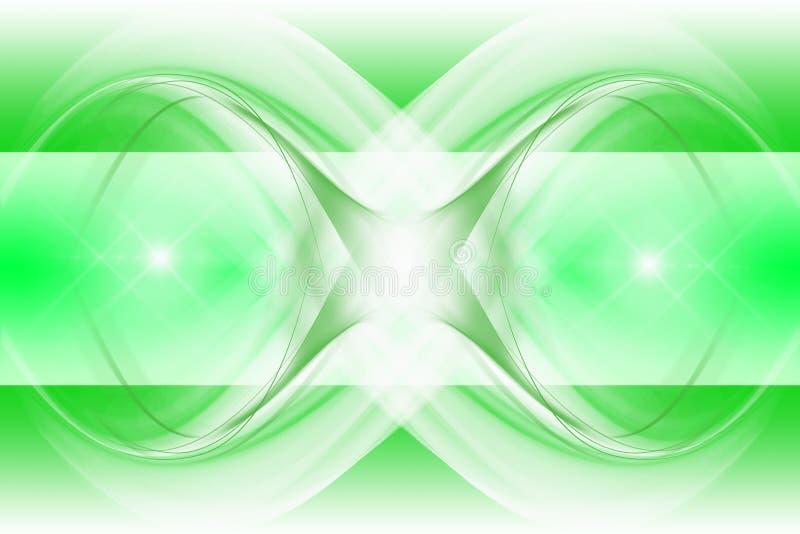 Fundo abstrato moderno do verde ilustração royalty free