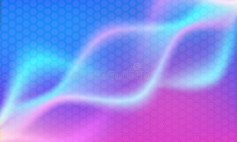 Fundo abstrato moderno do vetor da onda e do hexágono ilustração do vetor