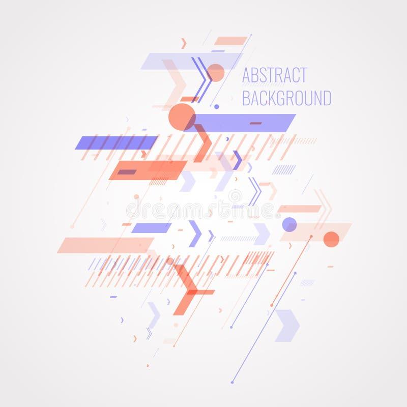 Fundo abstrato na moda Composição de formas geométricas ilustração stock