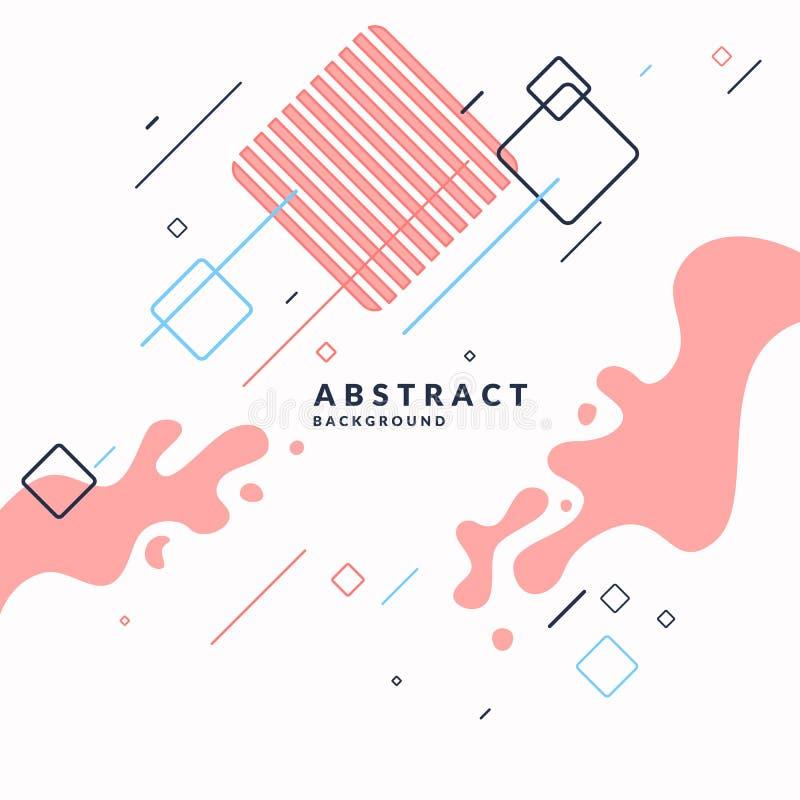 Fundo abstrato na moda Composição de formas geométricas e de respingo ilustração stock