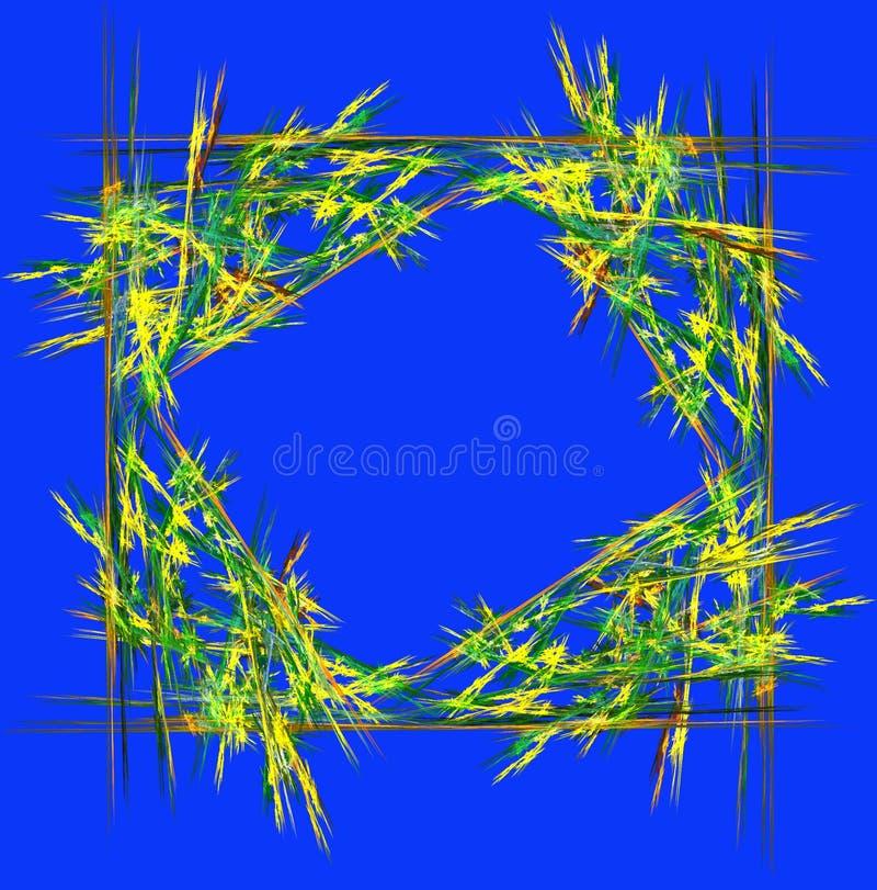 Fundo abstrato no estilo geométrico em verde e em azul Comput ilustração stock
