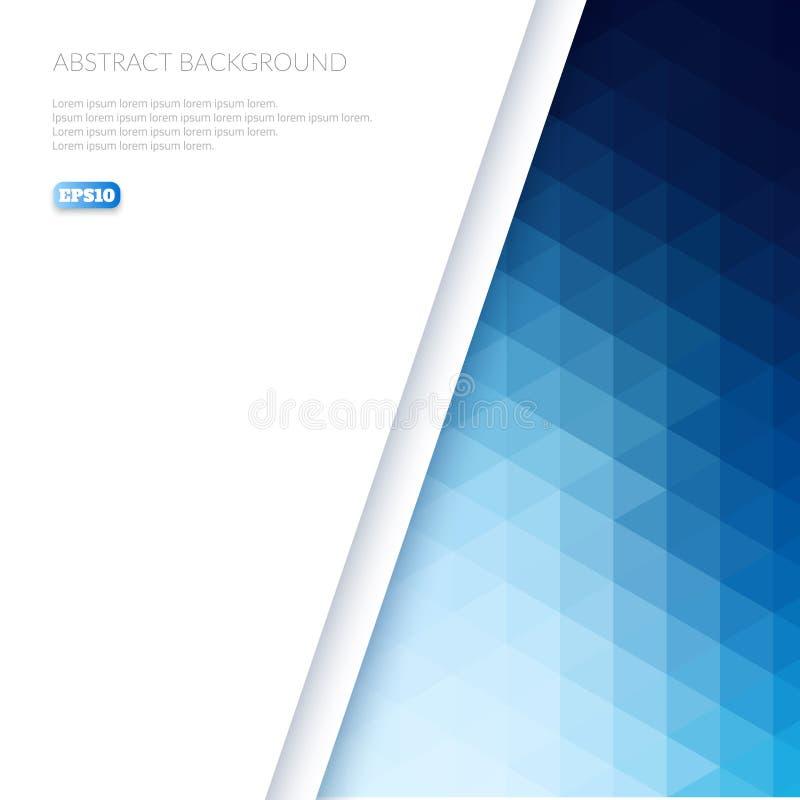 Fundo abstrato no estilo isométrico Inclinação da cor dos triângulos ilustração do vetor