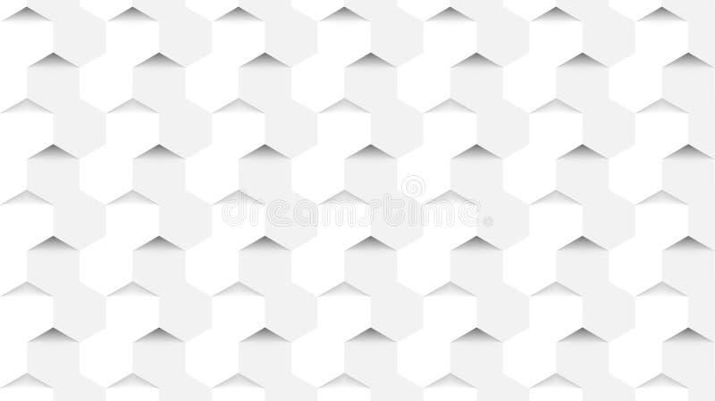 Fundo abstrato no estilo moderno Conceito dos hexágonos Vetor ilustração royalty free