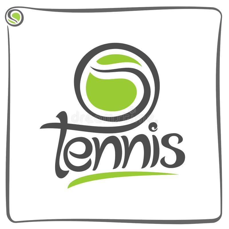 Fundo abstrato no tênis ilustração royalty free