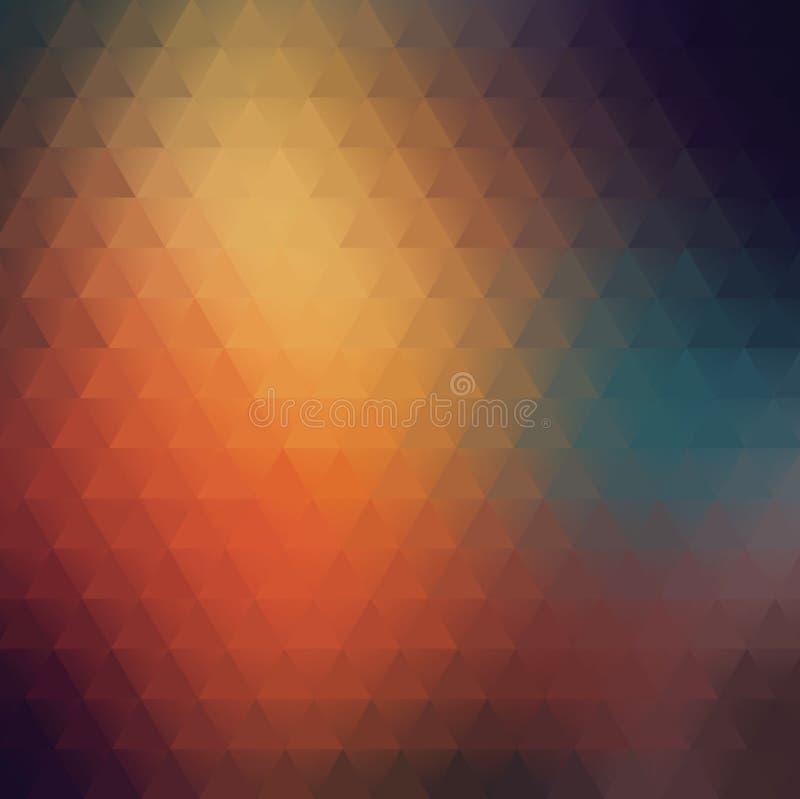 Fundo abstrato obscuro colorido triangular geométrico ilustração do vetor