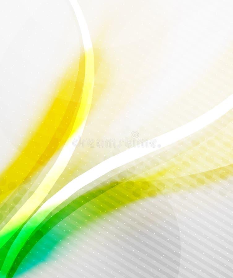 Fundo abstrato - onda borrada brilhante amarela ilustração royalty free